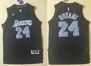 Lakers #24 Kobe Bryant Black Diamond Fashion Stitched NBA Jersey