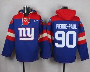 Nike Giants #90 Jason Pierre-Paul Royal Blue Player Pullover NFL Hoodie