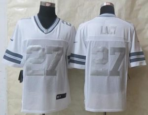 Nike Packers #27 Eddie Lacy White Men's Stitched NFL Limited Platinum Jersey